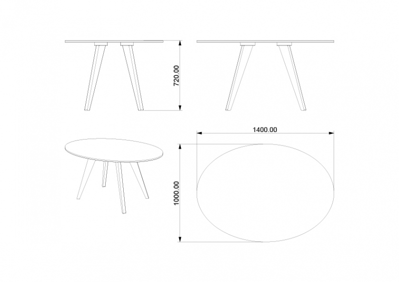 MAILLOT - Table ovale